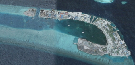 Thilafushi 2005, Detail. Source: Google Earth