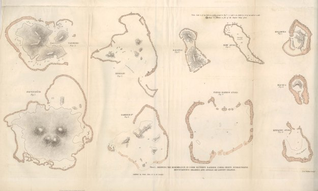 Darwin, C. (1842). Plate, The Structure and Distribution of Coral Reefs. Source: http://darwin-online.org.uk/