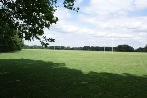 Hackney Marshes rugby fields, August 2013, Lindsay Bremner