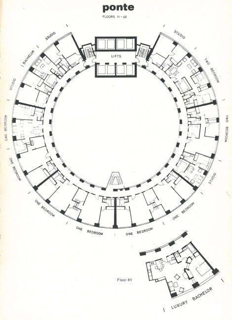Ponte PLan. Surce: Planning & Building Developments, 17, November/December 1975, p. 19